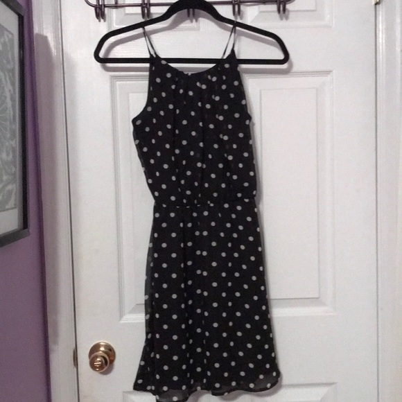 Charlotte Russe Dresses & Skirts - Black and white polka dot dress with back opening
